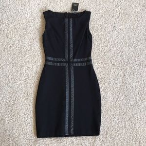 NWT, Tart Collection, Black Leather Detail Dress!